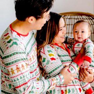 Matching Family Fair Isle Bamboo Viscose Christmas Pajamas