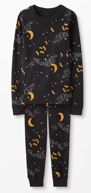 Midnight Stars Spooky Bats Halloween Matching Family Cotton Pajamas