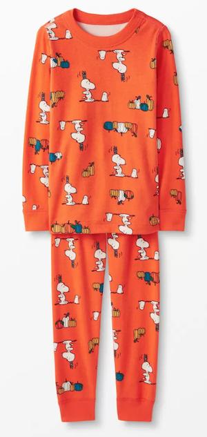 Peanuts Halloween Orange Matching Family Cotton Pajamas