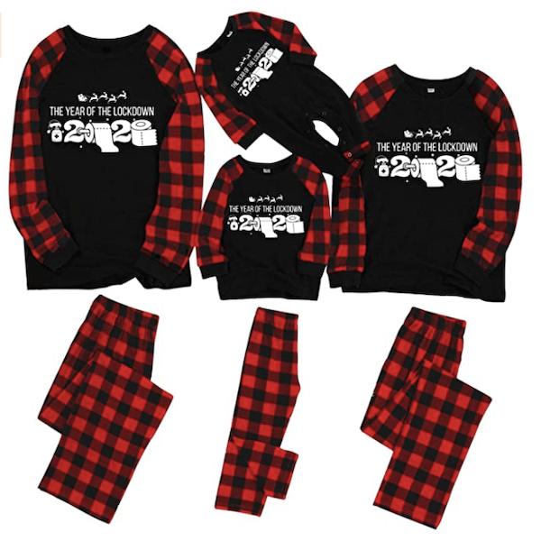Vopmocld Family Matching Pajamas Christmas Holiday Santa Claus 2Pcs PJS Set Snowman Xmas Sleepwears