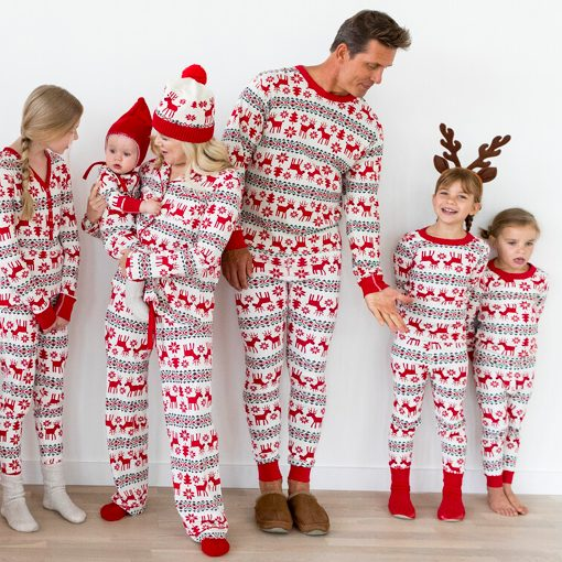 Dear Deer Family Matching Fair Isle Holiday Pajamas