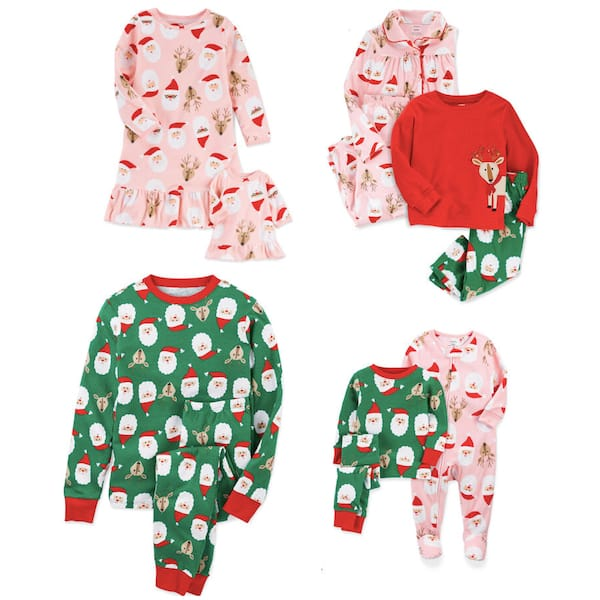 Family Holiday Santa and Reindeer Christmas Pajamas