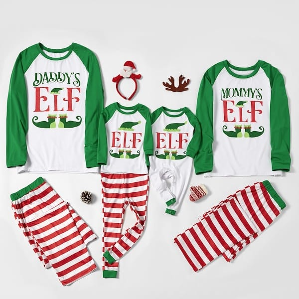 Elf Stripes Family Christmas PJs