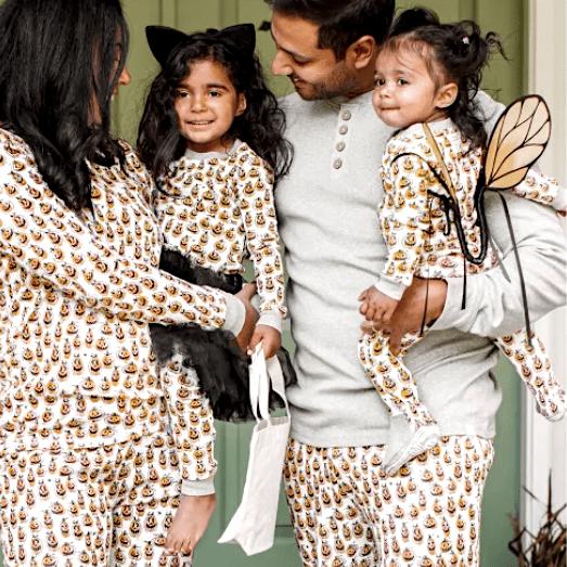 Family Matching Squash Goals Organic Cotton Halloween Pajamas