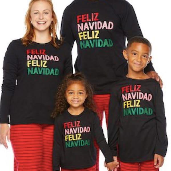 Feliz Navidad Family Christmas Pajamas