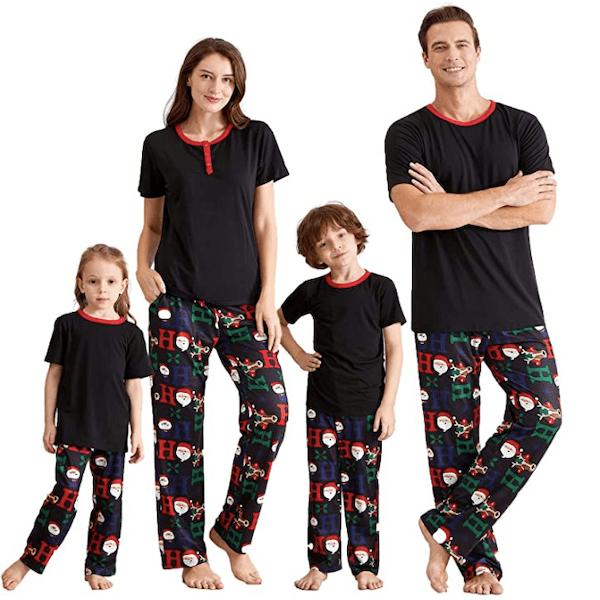 Ho Ho Ho Short Sleeve Family Matching Christmas Pajamas