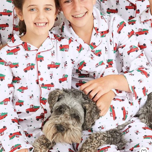 Holiday Mickey Mouse + Christmas Tree Truck Family Pajamas