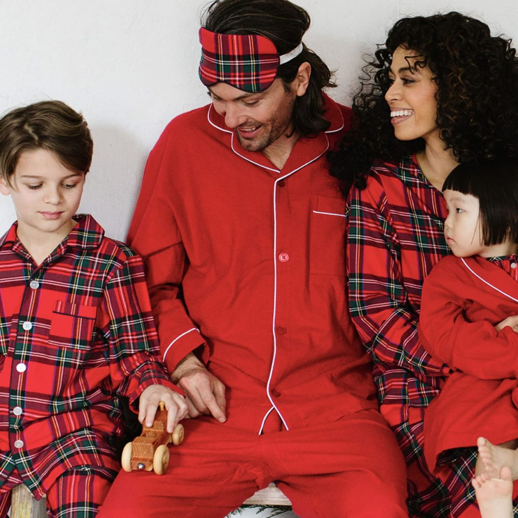 Imperial Plaid Family Matching Christmas Pajamas