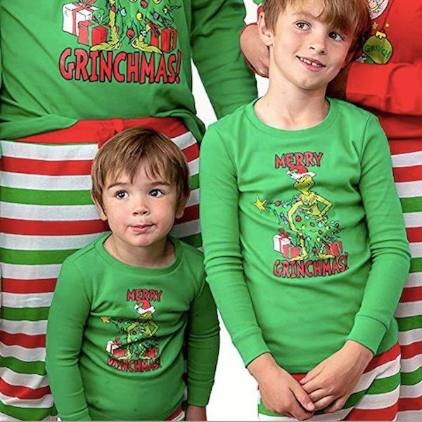 Merry Grinch-Man Family Holiday Pajamas
