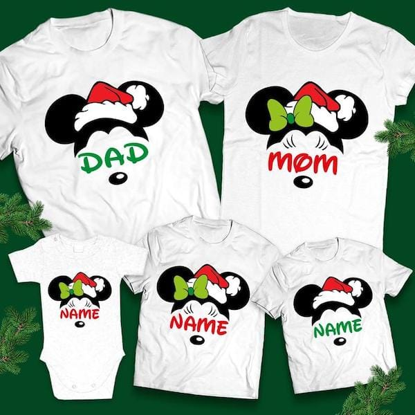 Matching Family Christmas Mickey Mouse Tees