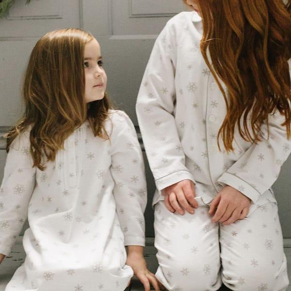 Mommy and Me Winter Wonderland Snowflake Holiday Pajamas