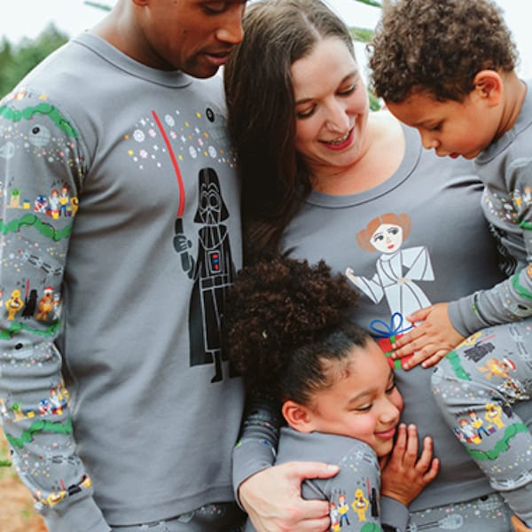Star Wars Holiday Carolers Family Matching Organic Cotton Pajamas