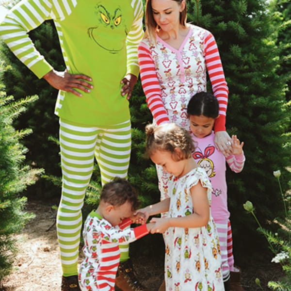 The Grinch Family Matching Organic Cotton Christmas Pajamas