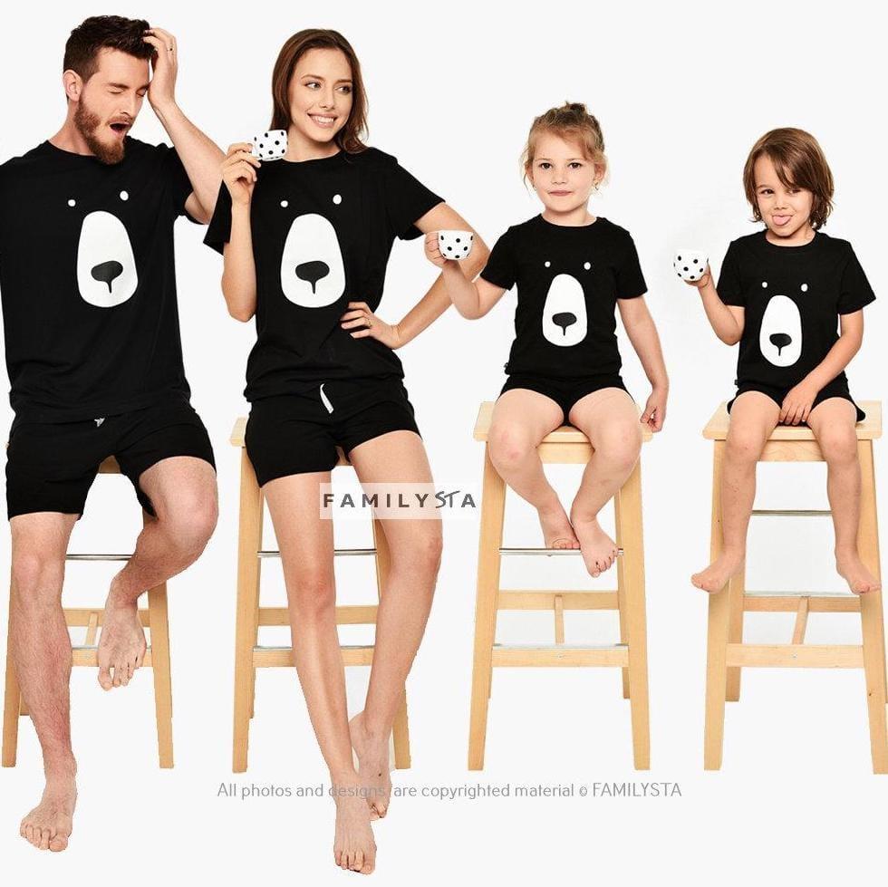 Black Bear Christmas Shortie PJs