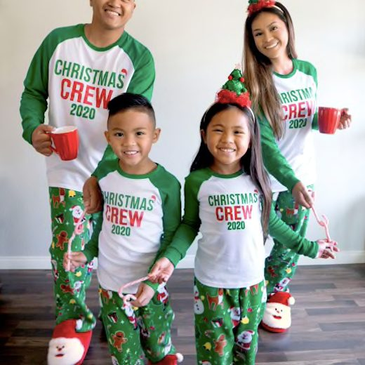 2020 Christmas Crew Santa Family Matching Holiday PJs