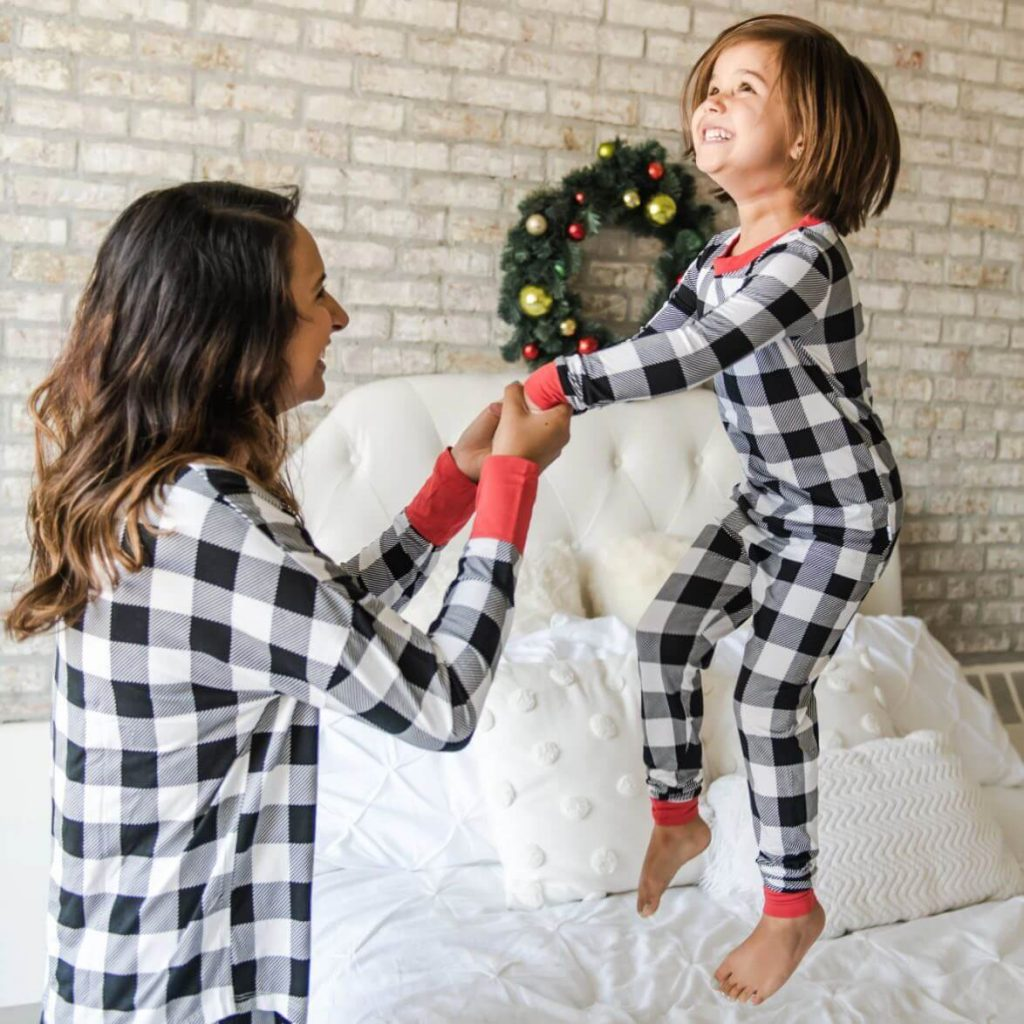 Buffalo Plaid Bamboo Family Holiday Pajamas