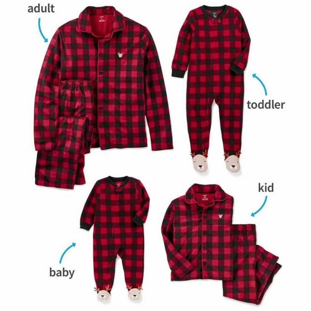 Buffalo Plaid Family Matching Christmas Pajamas