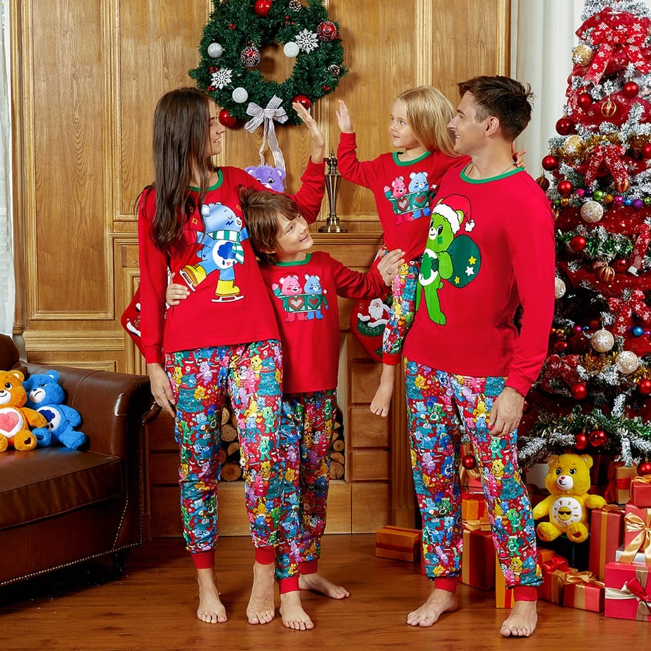 Family Matching Care Bears Christmas Pajamas