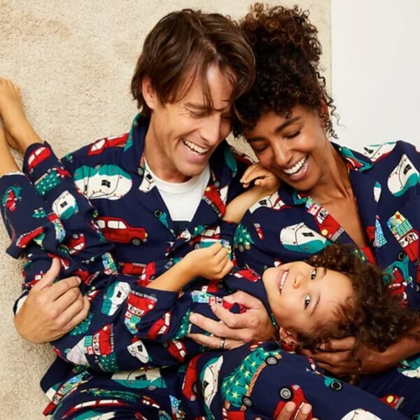 Cars and Trees Family Holiday Pajamas