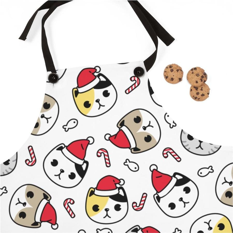 Cats in Hats Family Matching Christmas Aprons