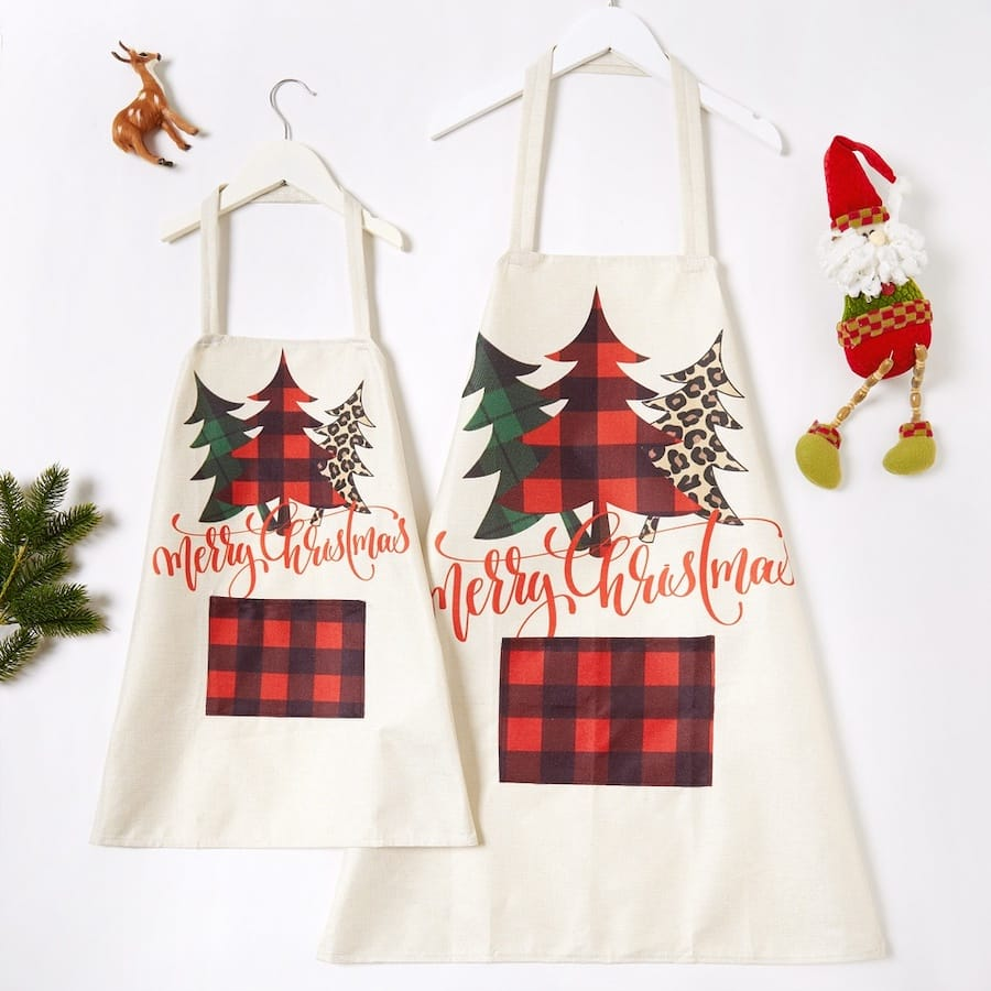 Cheap Family Matching Holiday Aprons