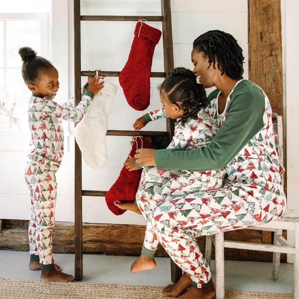 Christmas Trees Organic Cotton Holiday Family Pajamas