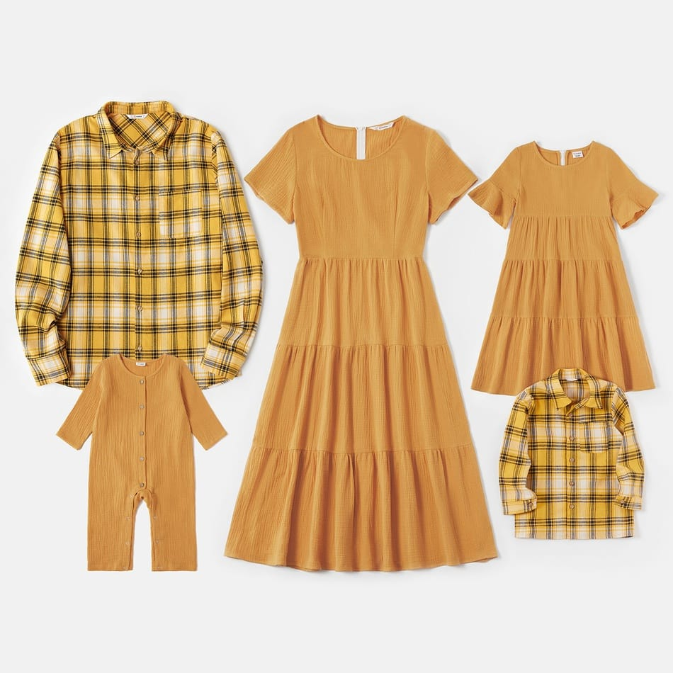 Cotton Family Matching Ocre Fall Outfits