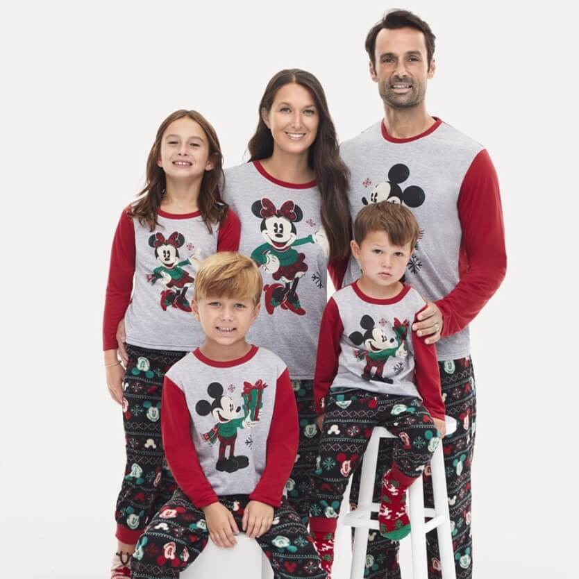 Disney Mickey and Minnie Family Holiday Pajamas