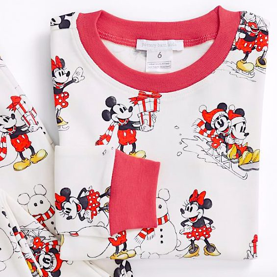 Disney Mickey Mouse Organic Cotton Family Christmas Jammies