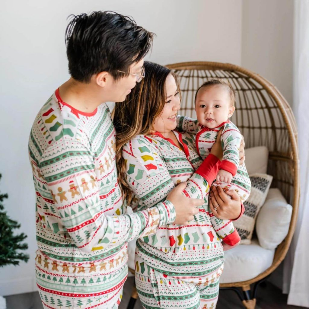 Fair Isle Bamboo Family Holiday Pajamas