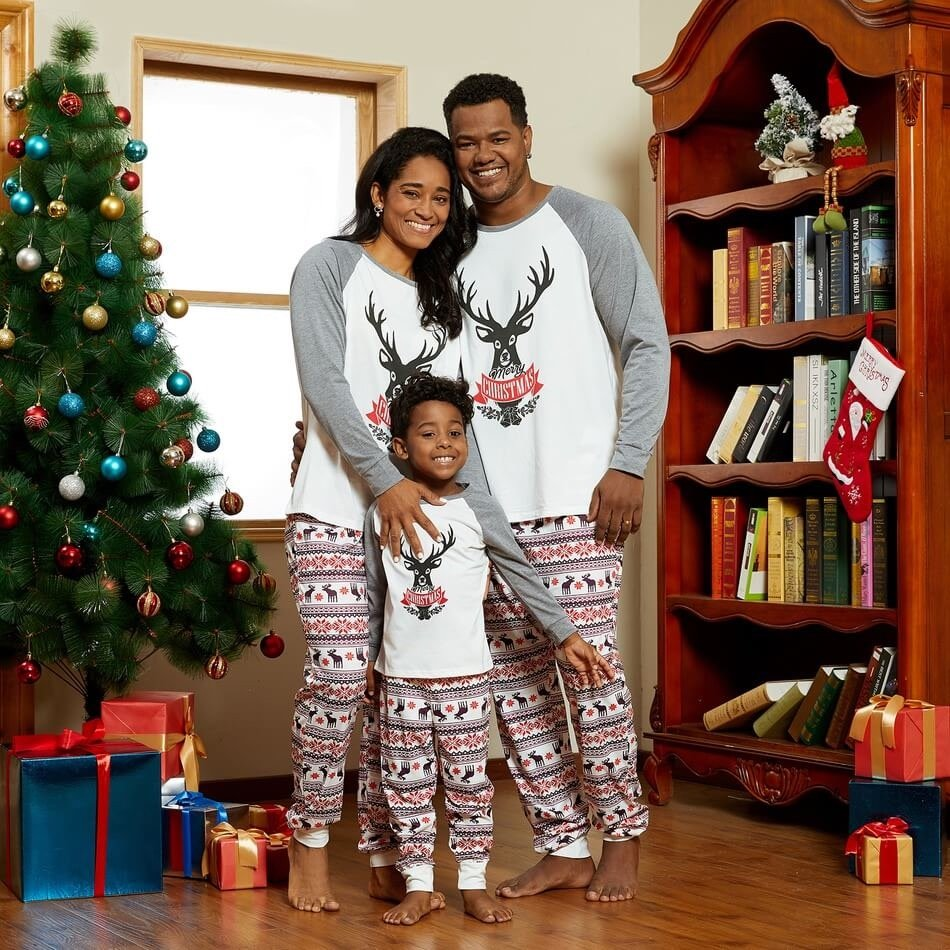 Christmas Reindeer Family Matching Pajamas
