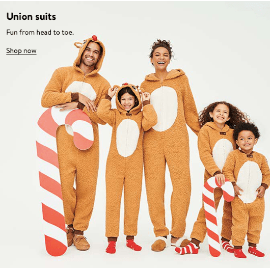 Family Matching Christmas Union Suits