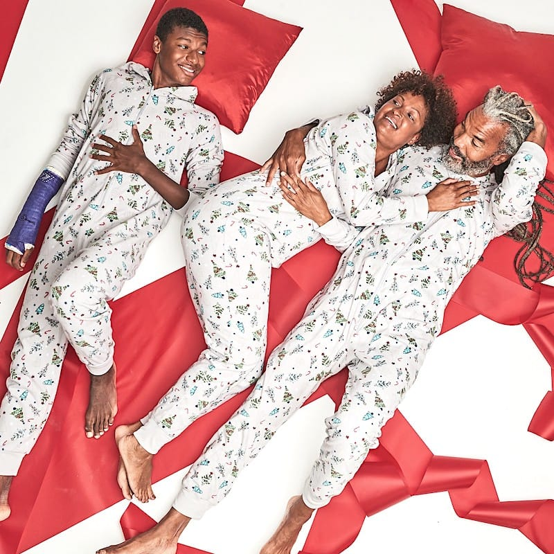Family Matching Festive Trees Hooded Christmas Onesies
