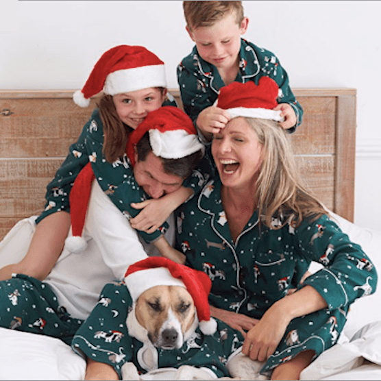 Family Matching Holiday Dog Flannel Pajamas