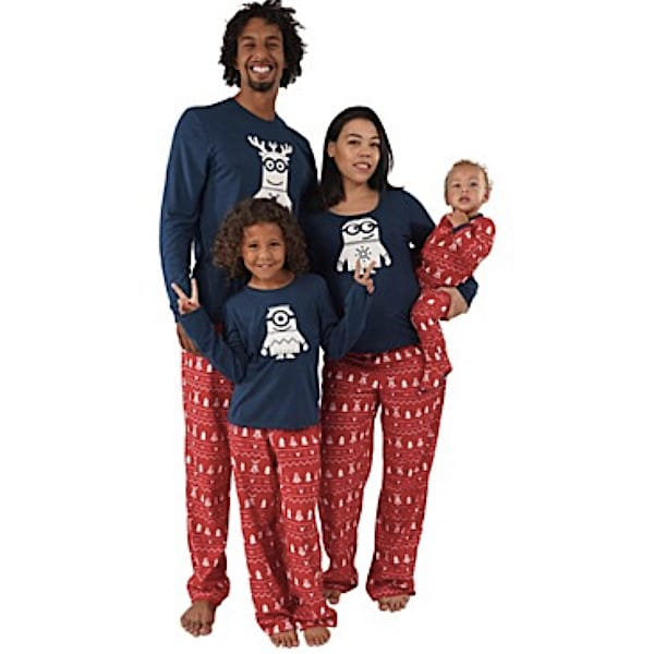Holiday Minions Family Matching Pajamas