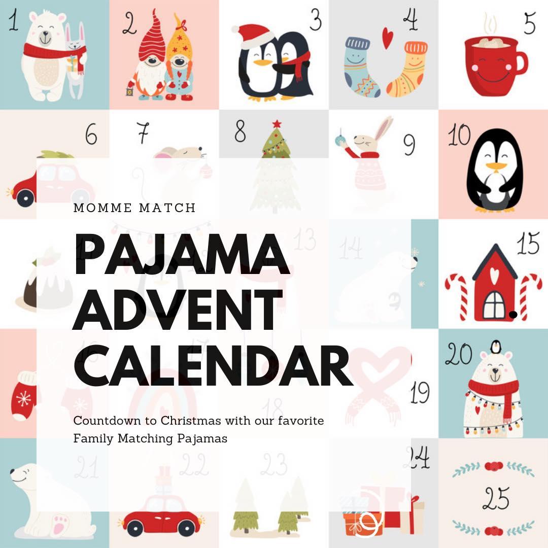 Family Matching Holiday Pajamas Instagram Advent Calendar