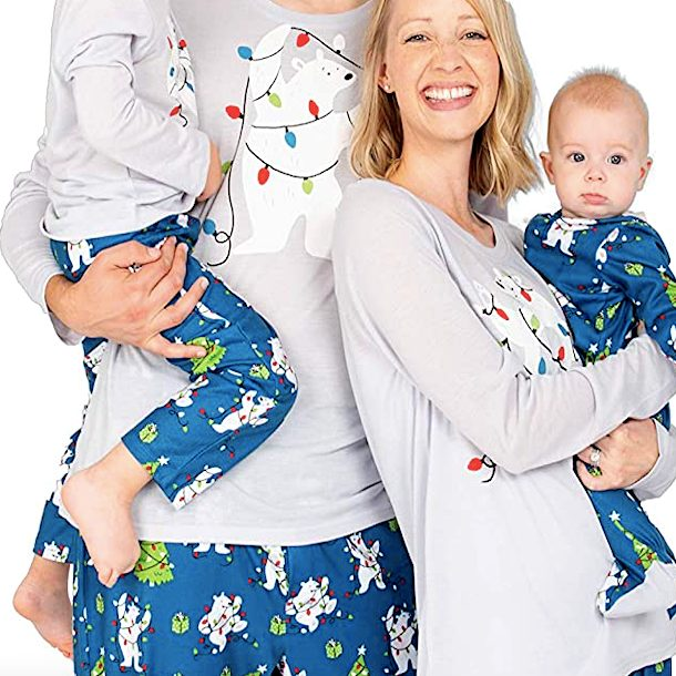 Family Matching Polar Bear Christmas Pajamas