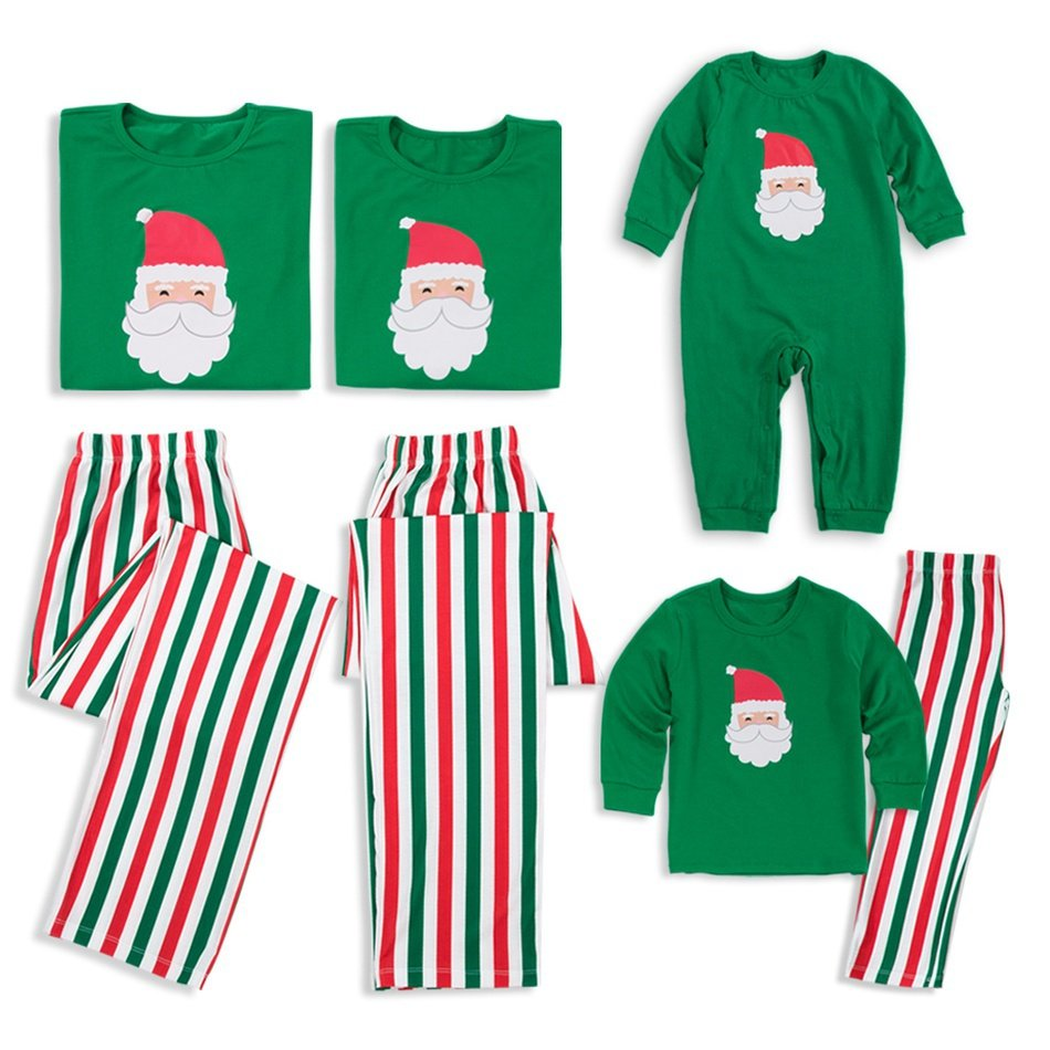 Family Matching Santa Striped Christmas Pajamas