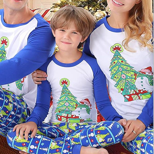 Family Matching Snowmen and Christmas Tree Holiday Pajamas