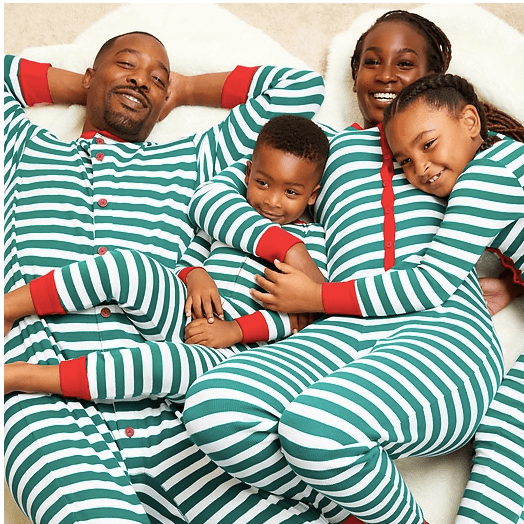 Red & Green Striped Family Pajamas
