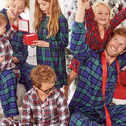 Mix and Match Family Matching Plaid Pajamas