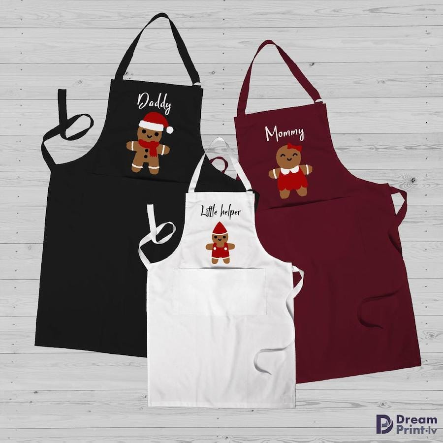 Gingerbread Family Christmas Aprons
