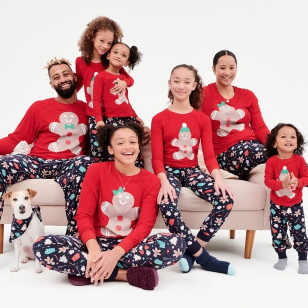 Gingerbread Family Holiday Pajamas