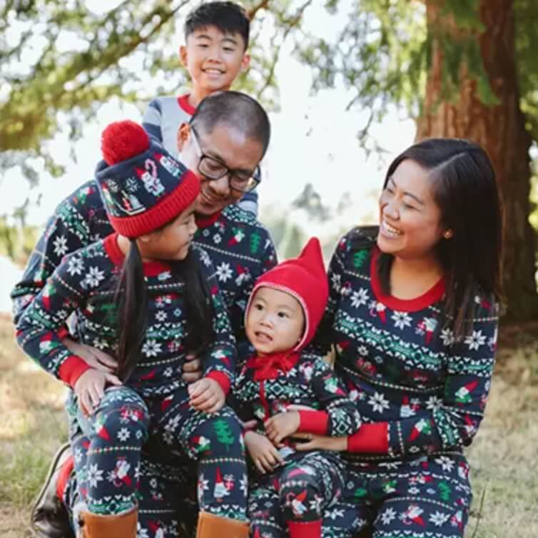 Gnome Fair Isle Family Holiday Pajamas