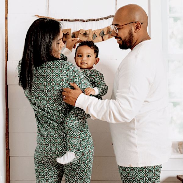 Diamond Fair Isle Organic Cotton Family Christmas Pajamas