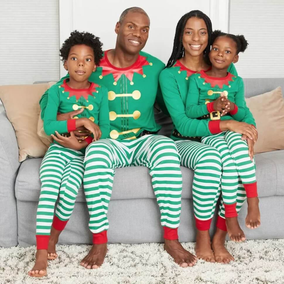 Holiday Elf Family Matching Pajamas