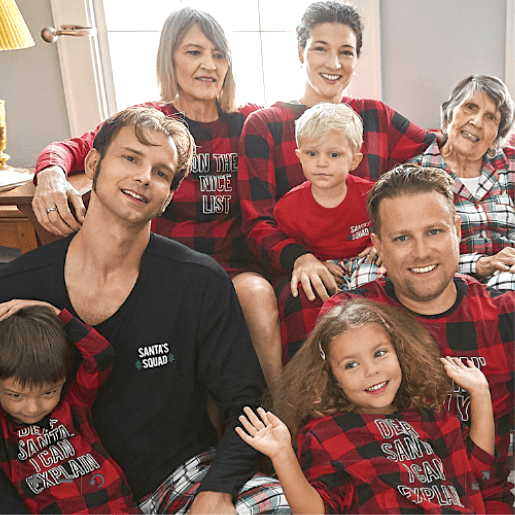 Family Matching Mix and Match Holiday Plaid PJs
