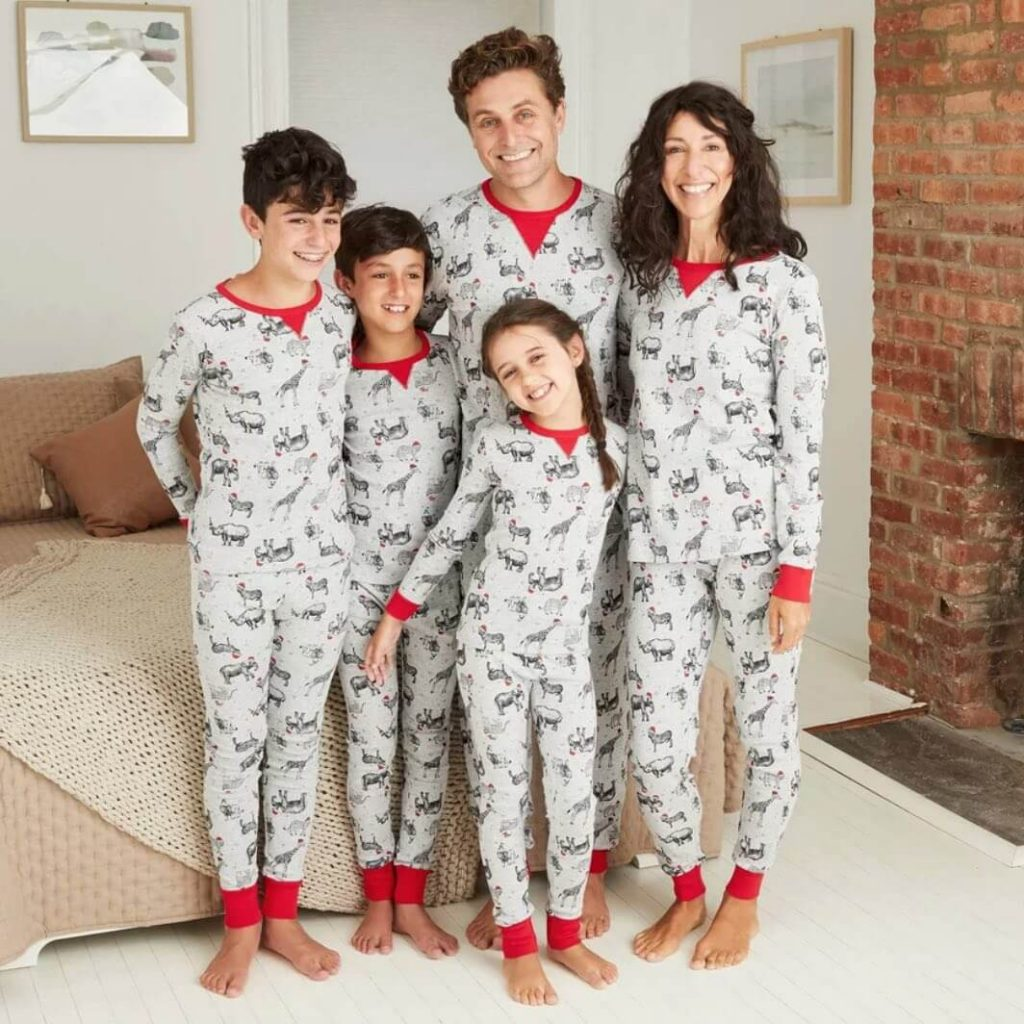 Holiday Safari Animal Matching Family Pajamas