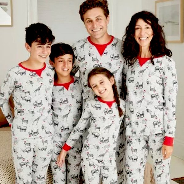 Family Matching Holiday Safari Animal Print Pajamas
