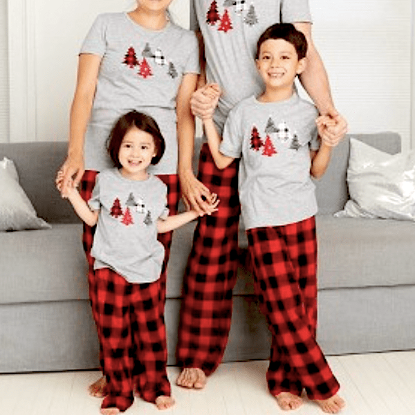 Holiday Tree Matching Family Pajama T-Shirt Collection